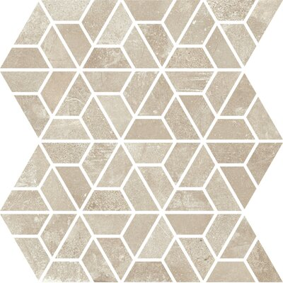 Basole 12 x 10 Ceramic Mosaic Tile in Beige