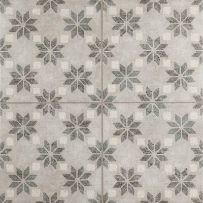 Cementine 16 x 16 Ceramic Field Tile in Antique Stelle