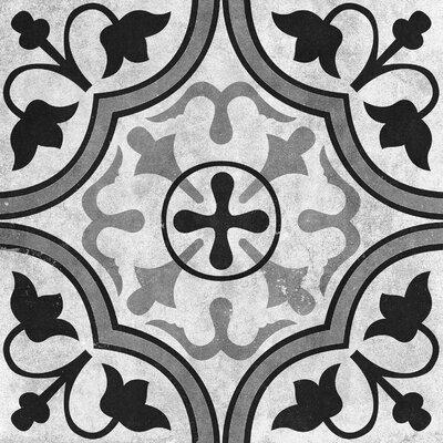 Cementine 16 x 16 Ceramic Field Tile in Contrast Foglie
