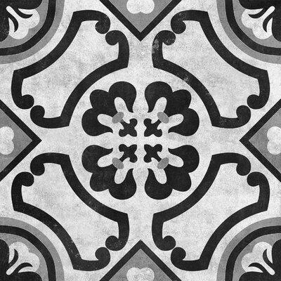 Cementine 16 x 16 Ceramic Field Tile in Contrast Circoli