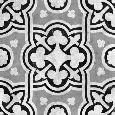 Cementine 16 x 16 Ceramic Field Tile in Contrast Fiori