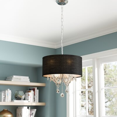Dunaghy 4-Light Drum Chandelier Shade Color: Black