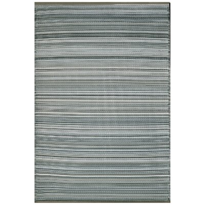 Fehr Striped Reversible Gray Area Rug Rug Size: Rectangle 4 x 6