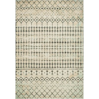 Ramer Tribal Soft Gray/Aqua Area Rug Rug Size: Rectangle 2 x 3