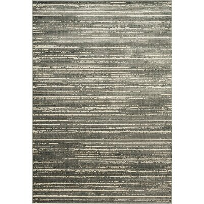 Heflin Stripe Soft Gray/Ivory Area Rug Rug Size: Rectangle 53 x 76