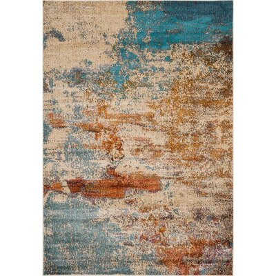 Ramer Abstract Soft Beige Area Rug Rug Size: Rectangle 83 x 10