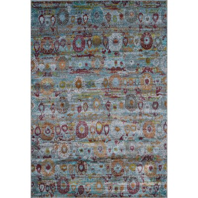 Ralph Soft Blue/Gray Area Rug Rug Size: Rectangle 2 x 3