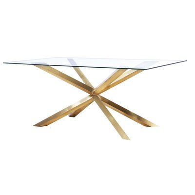 Wilbanks Modern Dining Table Base Color: Gold