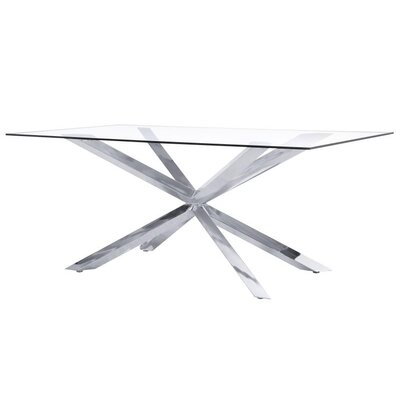 Wilbanks Modern Dining Table Base Color: Chrome