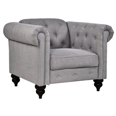 Charlton Home Chesterfield Chair Upholstery: Fog
