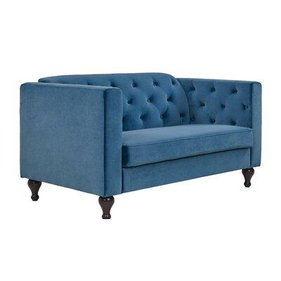Charlton Home Chesterfield Loveseat Upholstery: Mallard