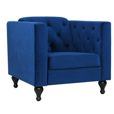 Charlton Home Armchair Upholstery: Sapphire
