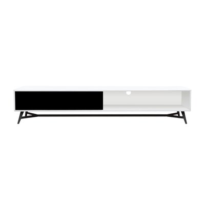Cosentino 79 TV Stand Color: Black/White