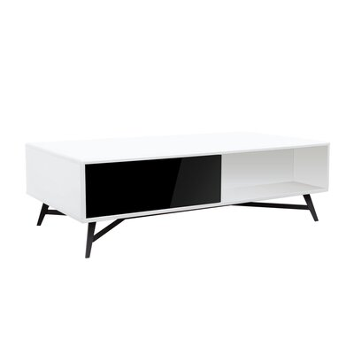 Cosentino Coffee Table Color: Black/White