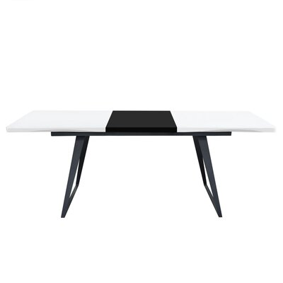 Cosentino Dining Table Top Color: Black/White