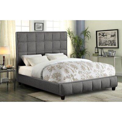 Stringfellow Grid Tufted Upholstered Panel Bed Size: King