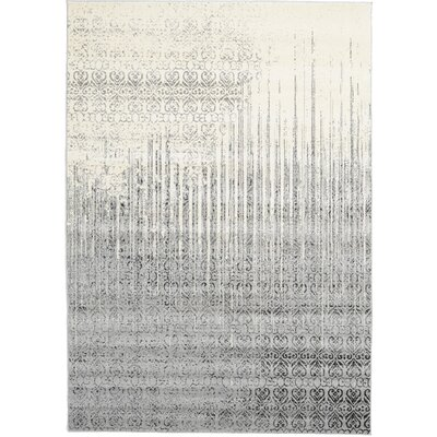 Dungan Gray Area Rug Rug Size: Rectangle 7 x 10