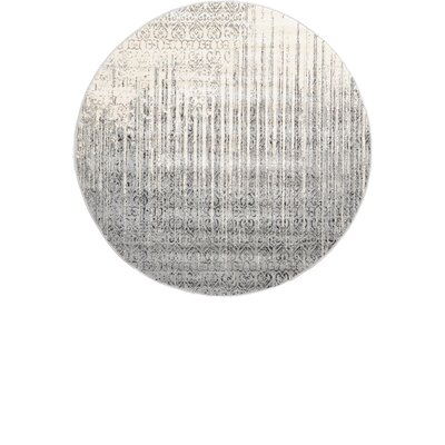 Dungan Gray Area Rug Rug Size: Round 6