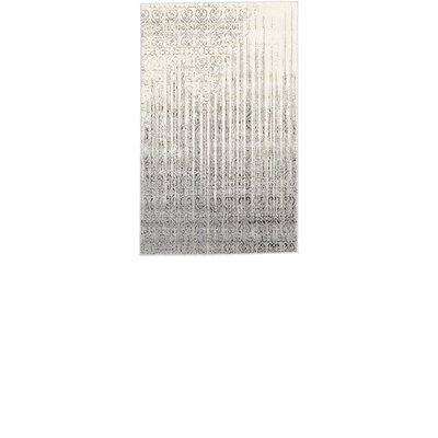 Dungan Gray Area Rug Rug Size: Rectangle 33 x 53