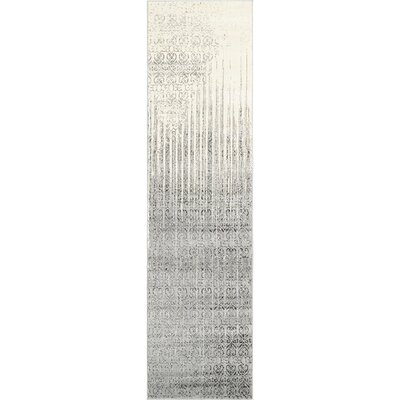 Dungan Gray Area Rug Rug Size: Runner 27 x 10