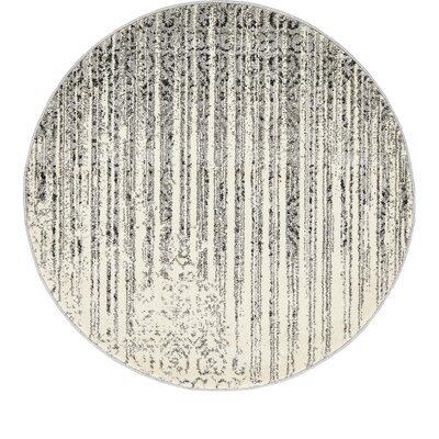 Dungan Gray Area Rug Rug Size: Round 3