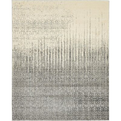 Dungan Gray Area Rug Rug Size: Rectangle 8 x 10