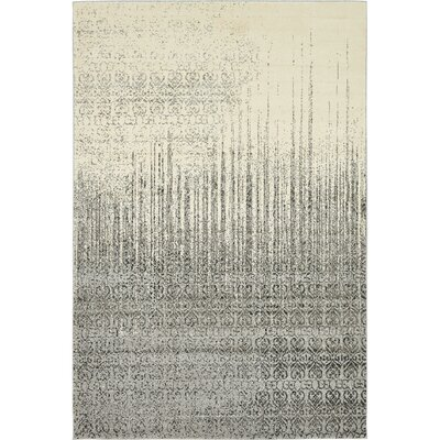 Dungan Gray Area Rug Rug Size: Rectangle 6 x 9
