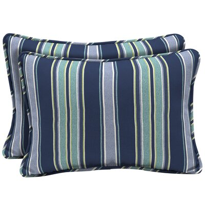 Croom Striped Outdoor Lumbar Pillow
