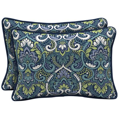 Partington Damask Reversible Outdoor Lumbar Pillow