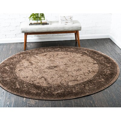 Shailene Brown Area Rug Rug Size: Round 8