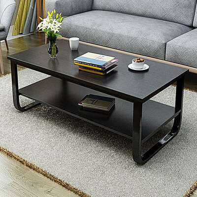 Horrell 2 Tier Polished Surface Multi Function Coffee Table