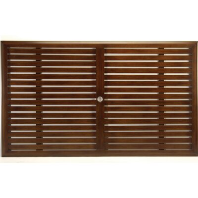 Slatted Rectangular Table Top Finish: Wrought Iron