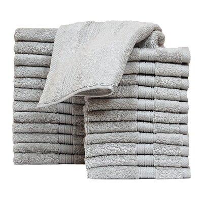 Kring Zero Twist Washcloth Color: Silver