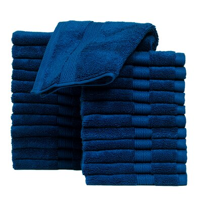 Kring Zero Twist Washcloth Color: Navy