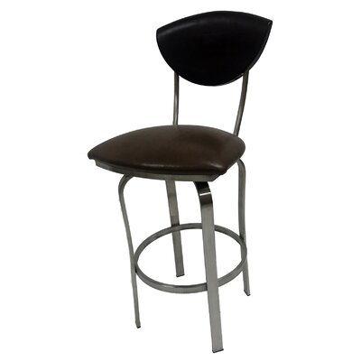 Mccracken 26 Swivel Bar Stool Upholstery: Brown