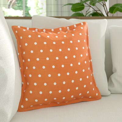 Kylie Linen Throw Pillow Size: 22 H x 22 W x 4 D, Color: Burnt Orange