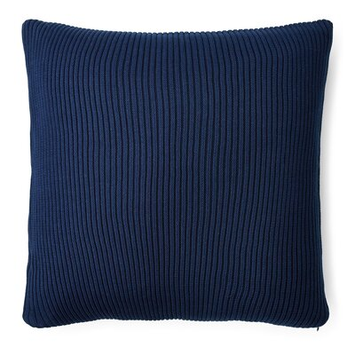Flora Rib Knit Cotton Throw Pillow