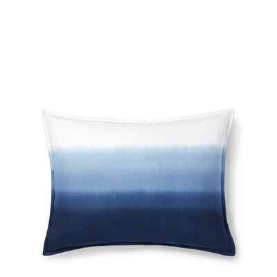 Flora Dip Dye Cotton Lumbar Pillow