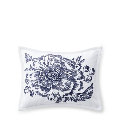 Isadora Embroidery Cotton Lumbar Pillow