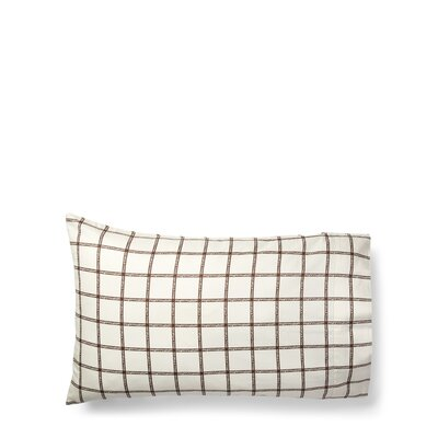 Dorian Windowpane Pillow Case Size: King