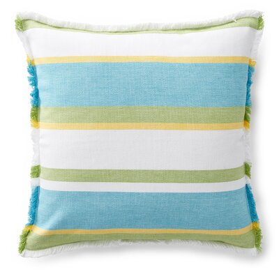 Gemma Woven Stripe Cotton Throw Pillow