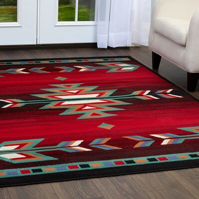 Hilander Black Area Rug Rug Size: Rectangle 110 x 211