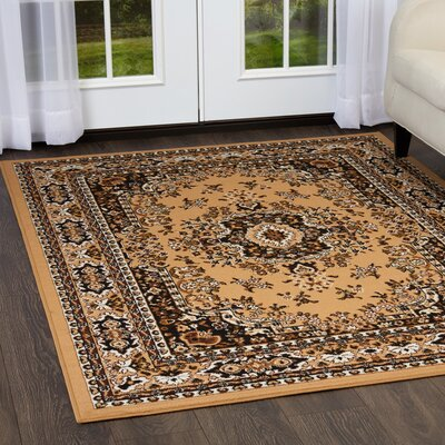 Lilly Sand Area Rug Rug Size: Rectangle 79 x 107