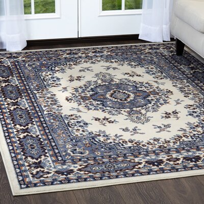 Lilly Porcelain Blue Area Rug Rug Size: Rectangle 79 x 108