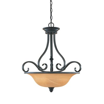 Canchola 3-Light Bowl Pendant