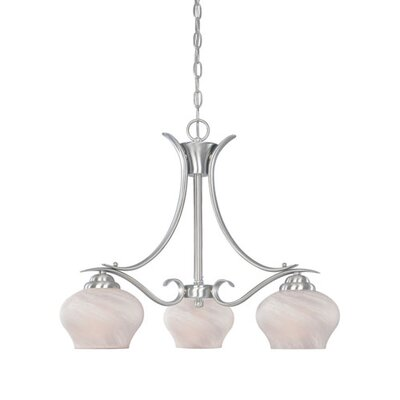 Stayton 3-Light Candle-Style Chandelier Finish: Silver