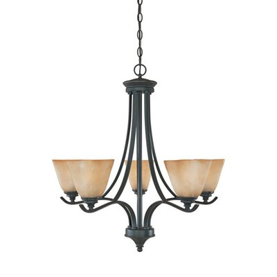 Holm 5-Light Candle-Style Chandelier Finish: Bronze