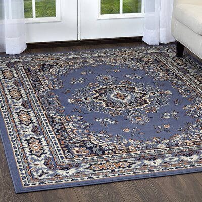 Lilly Country Blue Area Rug Rug Size: Rectangle 79 x 108