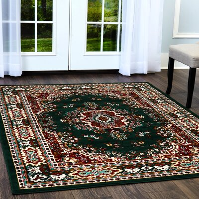 Ingham Green Area Rug Rug Size: Rectangle 111 x 111