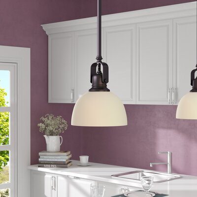 Abernathy 1-Light Pendant Finish: Oil Rubbed Bronze, Size: 59.25 H x 7 W